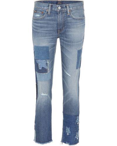 Укороченные джинсы винтажные mom Polo Ralph Lauren