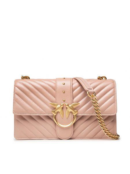 Klasyczna torebka - różowa Pinko