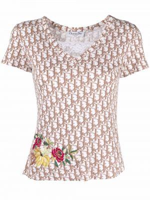 T-shirt bawełniana - biała Christian Dior