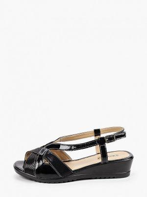 Текстильные черные сандалии Exquily
