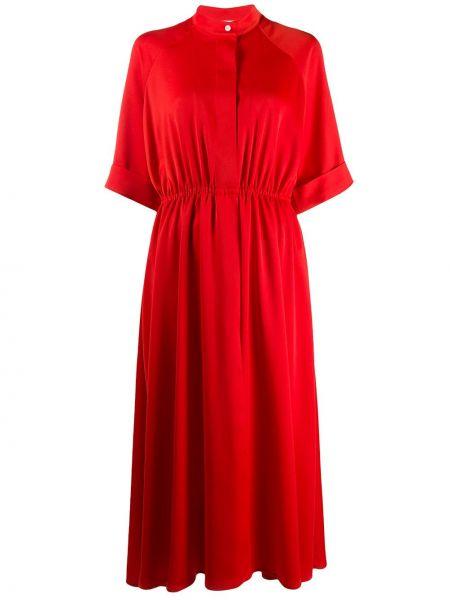 Платье мини короткое - красное Mulberry