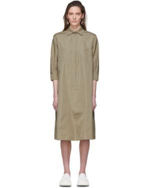 Платье на пуговицах из поплина Max Mara