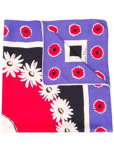 Платок с цветочным принтом Christian Dior Pre-owned