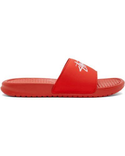 Otwarty z paskiem skórzany klapki Nike