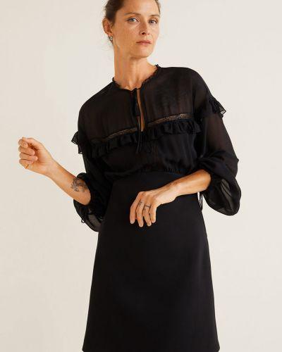 Платье мини на пуговицах с поясом Mango