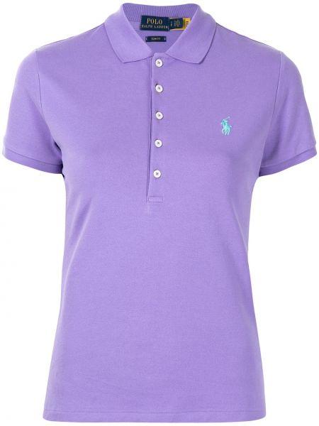 Koszula slim bawełniana krótki rękaw z haftem Polo Ralph Lauren