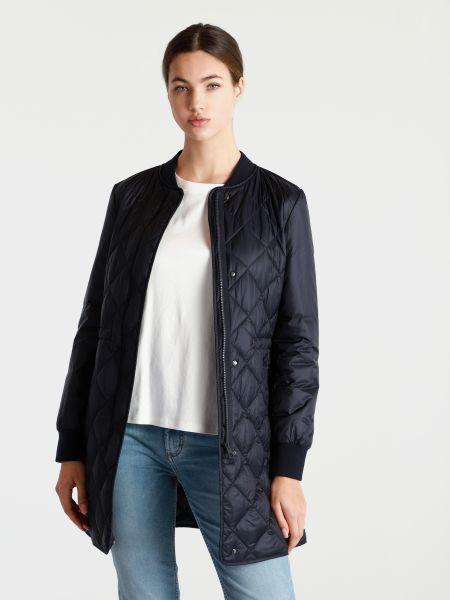 Синее стеганое пальто на молнии Marc O'polo