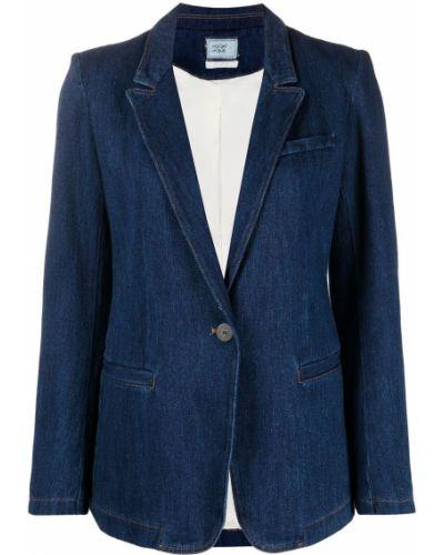 Хлопковая синяя джинсовая куртка с карманами Forte Forte
