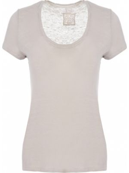 Льняная футболка - бежевая 120% Lino