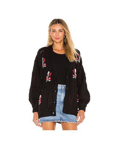 Акриловый черный вязаный свитер For Love & Lemons