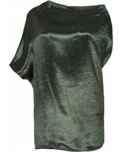 С рукавами зеленая блузка с вырезом Adolfo Dominguez