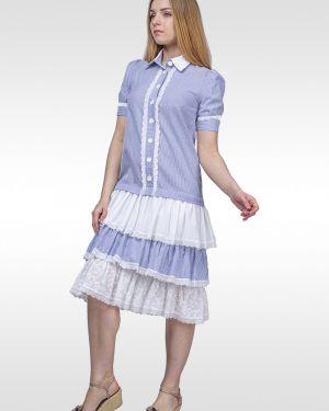 Платье в стиле бохо на пуговицах Lila Classic Style