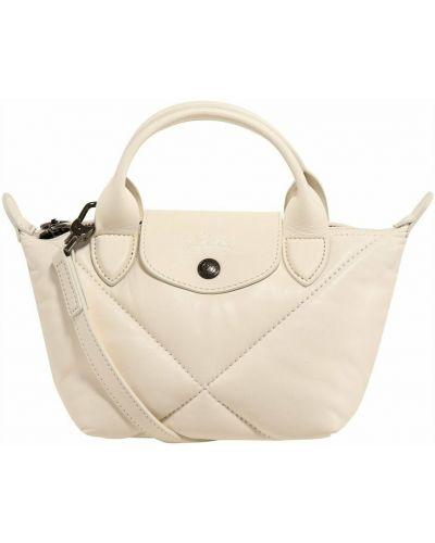 Biała torba na ramię Longchamp