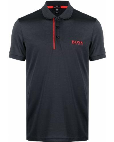 Рубашка с коротким рукавом - черная Boss Hugo Boss
