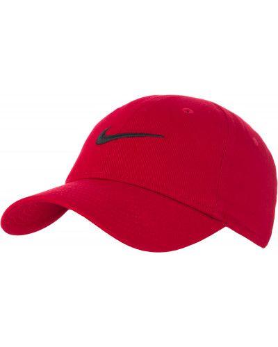 Хлопковая красная бейсболка Nike
