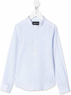 Рубашка в полоску синий Emporio Armani Kids