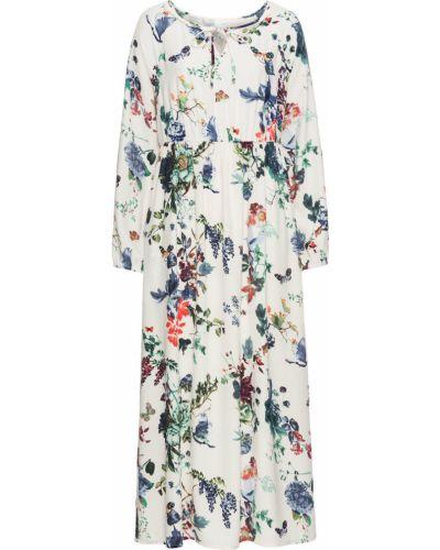 Летнее платье с цветочным принтом ажурное Bonprix