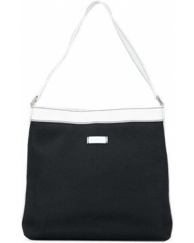 Кожаная сумка на плечо черная Gucci Vintage