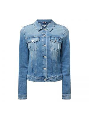 Niebieski bawełna kurtka jeansowa z kołnierzem Tommy Hilfiger