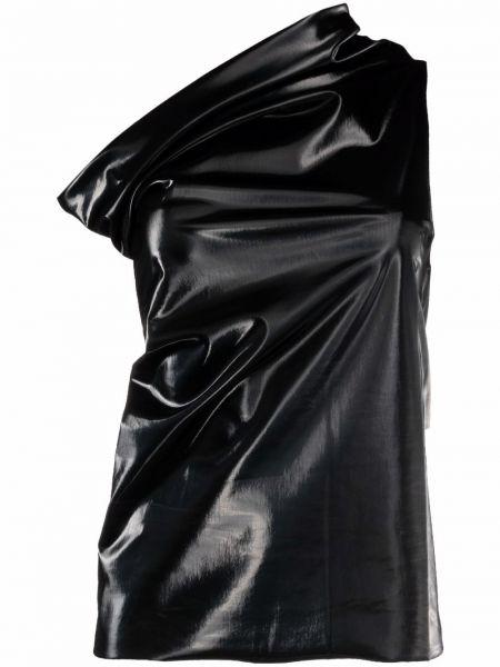 Черный хлопковый топ без рукавов Rick Owens Lilies
