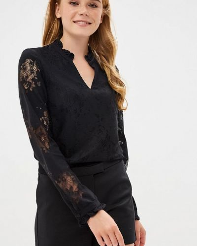 Черная блузка кружевная Naf Naf