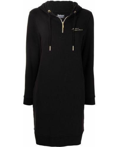 Платье макси длинное - черное Barbour
