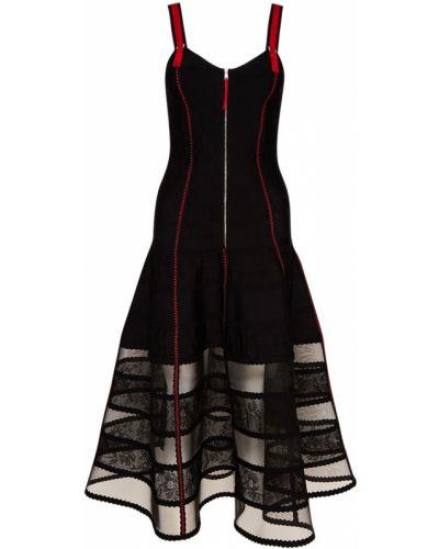 Платье со вставками на тонких бретелях Alexander Mcqueen