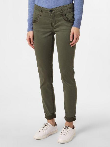 Spodnie z haftem - zielone Mos Mosh
