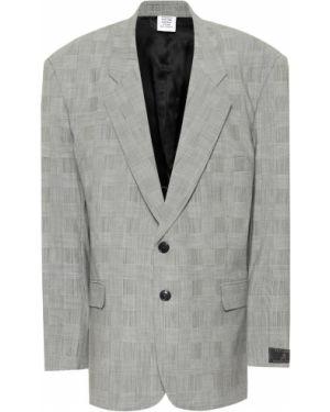 Пиджак серый оверсайз Vetements