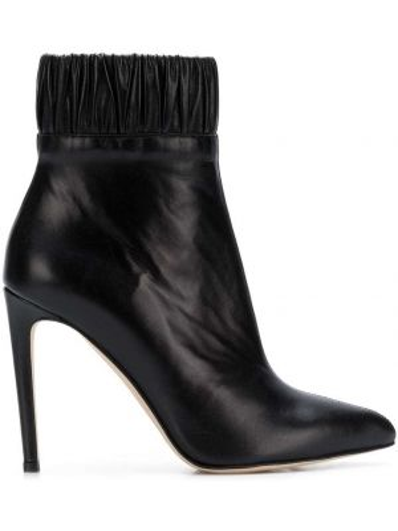Кожаные черные сапоги Chloe Gosselin