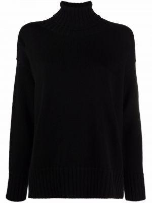 Черная шерстяная кофта Drumohr