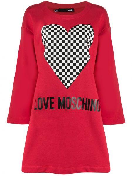 Платье миди платье-толстовка прямое Love Moschino
