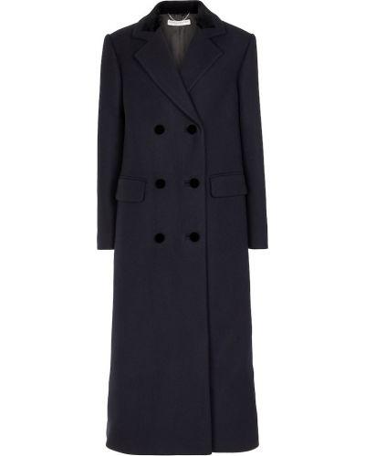 Niebieski płaszcz wełniany Alessandra Rich