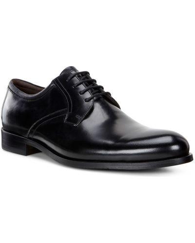Кожаные туфли черные коричневый Ecco