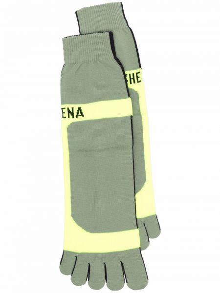 Зеленые носки для полных стрейч Ssheena