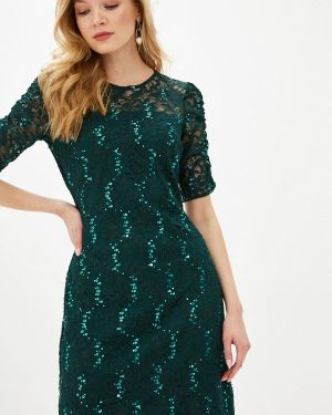 Вечернее платье осеннее зеленый Zarina