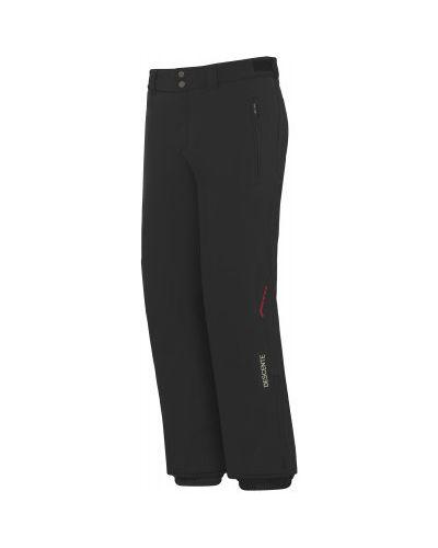Зауженные черные утепленные горнолыжные брюки Descente