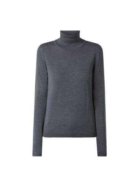 Wełniany sweter z kołnierzem Boss