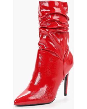Текстильные лаковые красные кожаные туфли на молнии Sweet Shoes