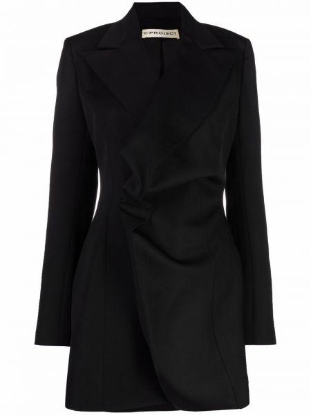 Платье макси с длинными рукавами - черное Y Project