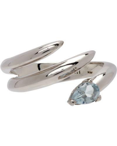Niebieski pierścionek srebrny Alan Crocetti