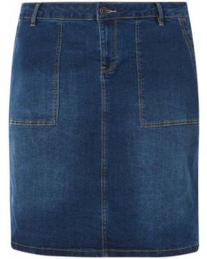 Niebieska spódnica jeansowa rozkloszowana bawełniana Junarose