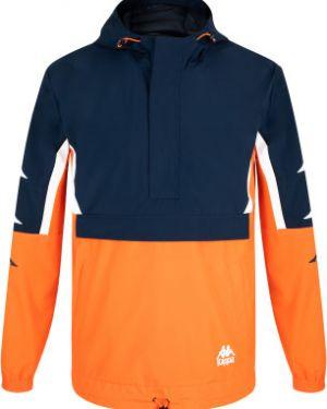 Свободная спортивная оранжевая куртка с капюшоном свободного кроя Kappa
