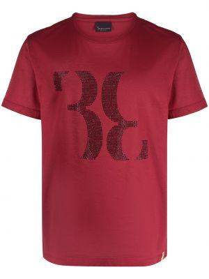 Хлопковая с рукавами красная рубашка Billionaire