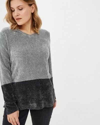 Серый пуловер Persona By Marina Rinaldi