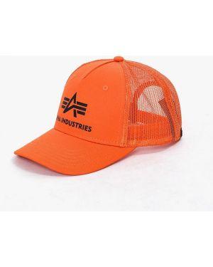 Оранжевая кепка Alpha Industries