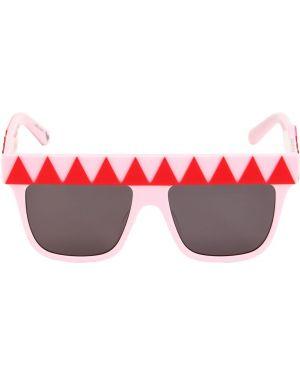 Różowe okulary z printem Stella Mccartney Kids