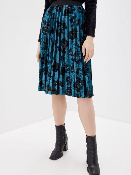 Плиссированная юбка синяя весенняя Ovs