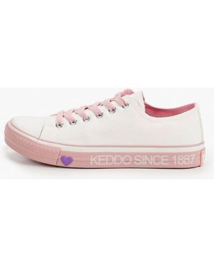 Текстильные белые кроссовки Keddo