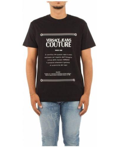 Biały t-shirt Versace Jeans Couture